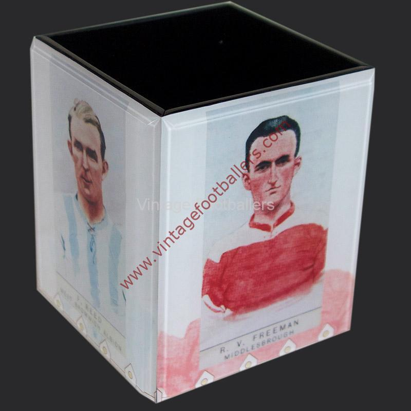 Personalised Vintage Footballer Pencil Holders