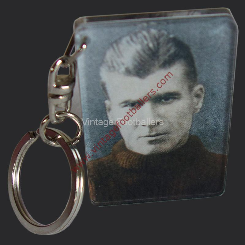 Personalised Vintage Footballer Acrylic Key Chain