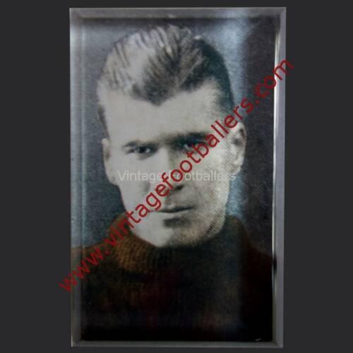 Personalised vintage footballer fridge magnet