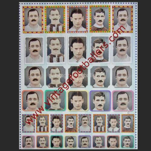 Vintage Footballers Personalised Sticker Sheet