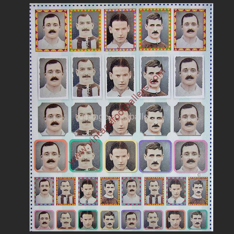 Vintage Footballers Personalised Sticker Sheet