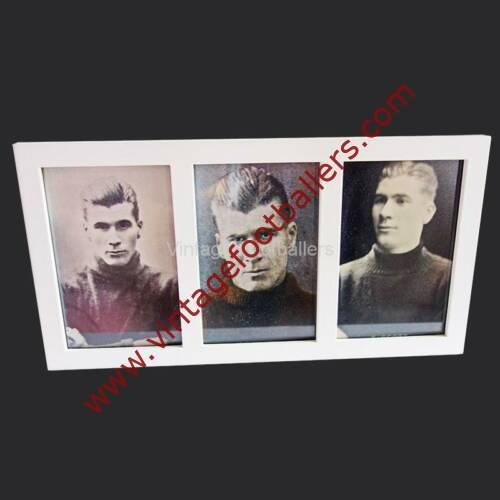 Vintage Footballers triple photo frame